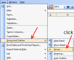 Collapse Expand Excel Charts Using Group Data Feature