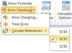 Locate Circular References in an Excel Sheet