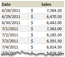 sales record format