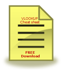 FREE Excel VLOOKUP Formula Cheat-sheet - Download Today