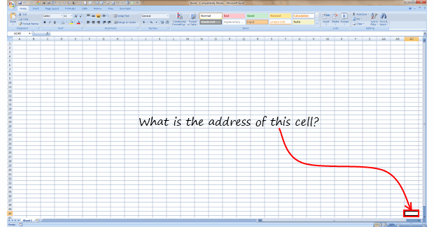 What is the last visible cell in your excel window? [Poll