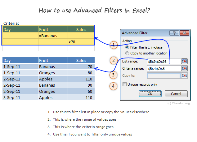Introduction to Excel Advanced Filters - What are they & How to ...