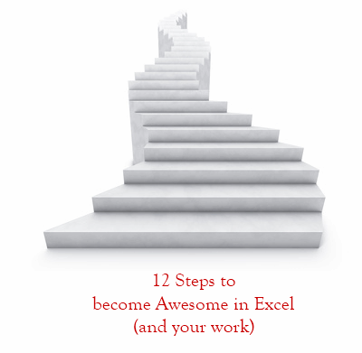12 Steps to become awesome in Excel (and your work) in 2012