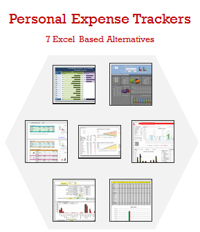 Daily expense tracker excel template and accounting spreadsheet.