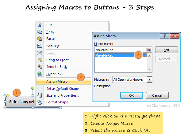 Assigning Macros to Buttons - Excel VBA Crash Course