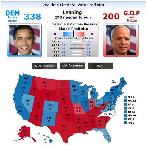 35 Cool Visualizations on 2008 US Presidential Election Obama vs