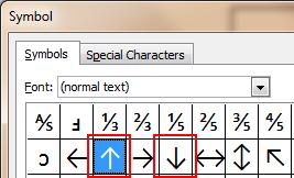 Insert Symbol Excel