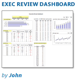 Executive Review Dashboard in Excel [Dashboard Week]