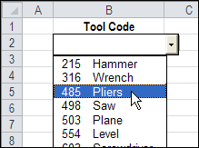 Multi-Column Combo Boxes in Excel