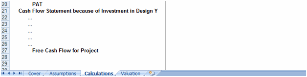 Building a layout for Project Evaluation Model - 6