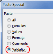Copy Data Validations