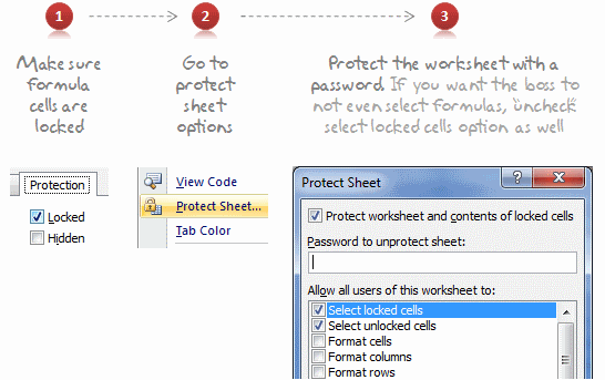 Lock Formula Cells And Protect The Worksheet