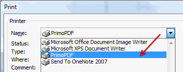PrimoPDF is a free PDF conversion software that can used to convert excel spreadsheets to PDF format