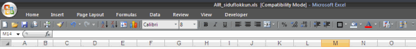 Excel 2003 Toolbars in Excel 2007