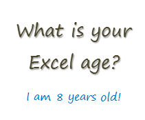 How long have you been using Excel?