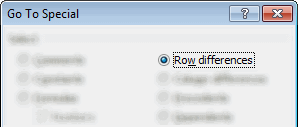 Quickly Compare Data using Row Differences