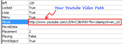 Setting Flash Movie Properties - Excel Youtube Embedding