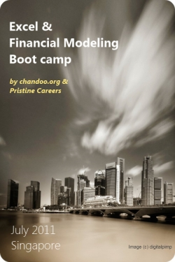 Announcing Excel & Financial Modeling Bootcamp in Singapore