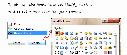 Modify Macro Icon - Customizing QAT