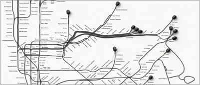 Sony walkman sub way map advertisement