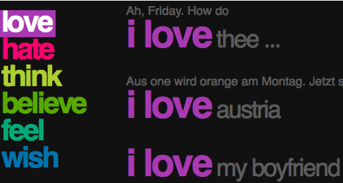 twistori-love-tweets