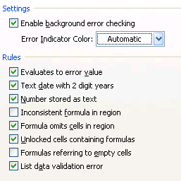 Bugged with annoying error checking options? Turn them off forever - Excel Customization Hacks