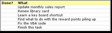 using-todo-list-in-excel-entering-tasks