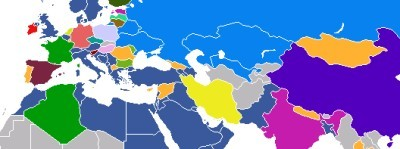 Map of most popular social networks in each country