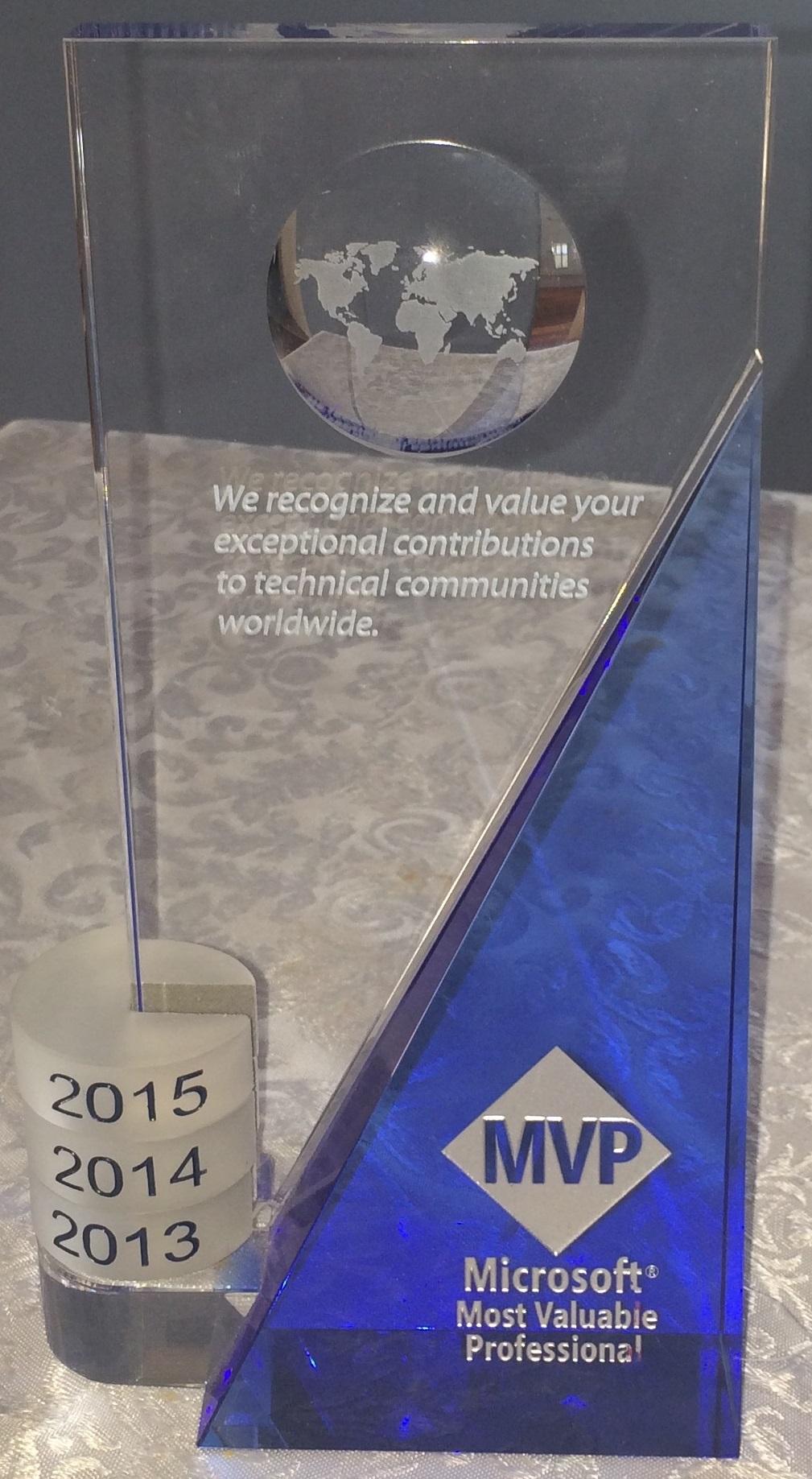 MVP Award 2015