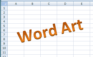 Using WordArt in Excel