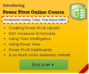 Last day to join Advanced Power Pivot class & Bundles – Enroll to become awesome