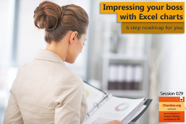 CP029: Impress your boss with Excel charts - 6 step road map for you - Chandoo.org podcast
