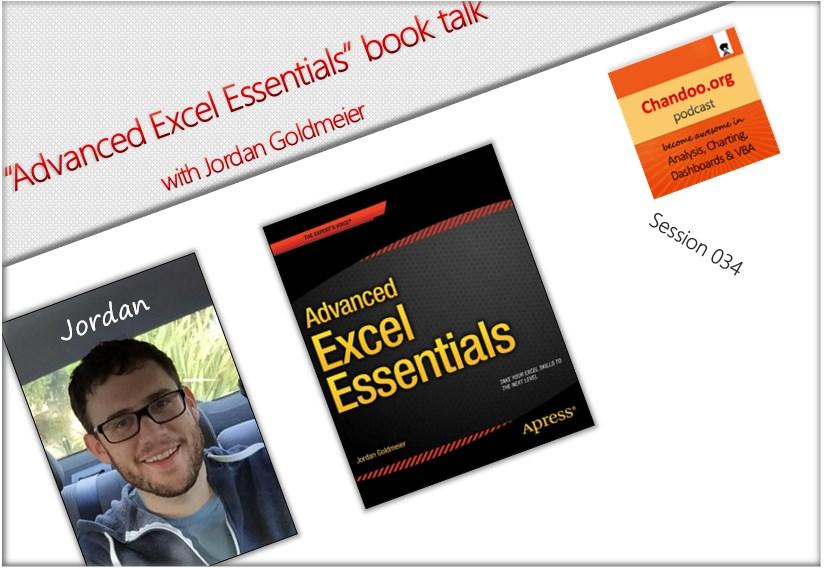 CP034 - Advanced Excel Essentials book talk with Jordan Goldmeier