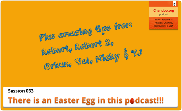 CP033 - There is an Easter egg in this podcast - Excel tips from Chandoo.org podcast listeners
