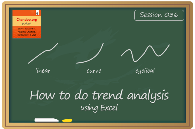 CP036: How to do trend analysis using Excel?