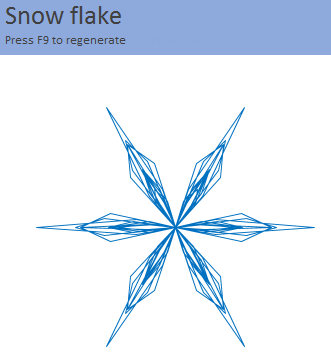 Generate a snow flake pattern Excel [holiday fun]