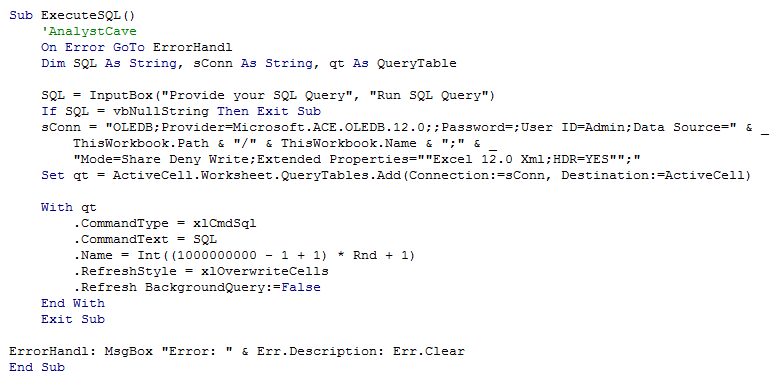 MS Query