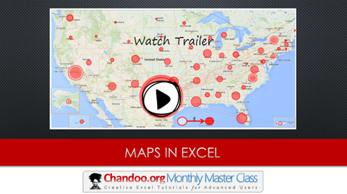 Maps in Excel - Monthly Master Class - Episode 03