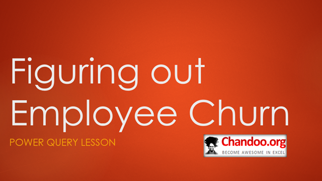 Figuring out Employee Churn with Power Query [HR Analytics]