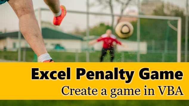 Excel penalty shootout game