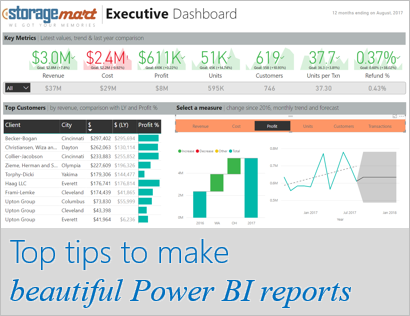 My top 5 tips for designing beautiful Power BI reports