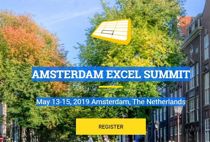 Amsterdam Excel Summit - May 2019 - Chandoo