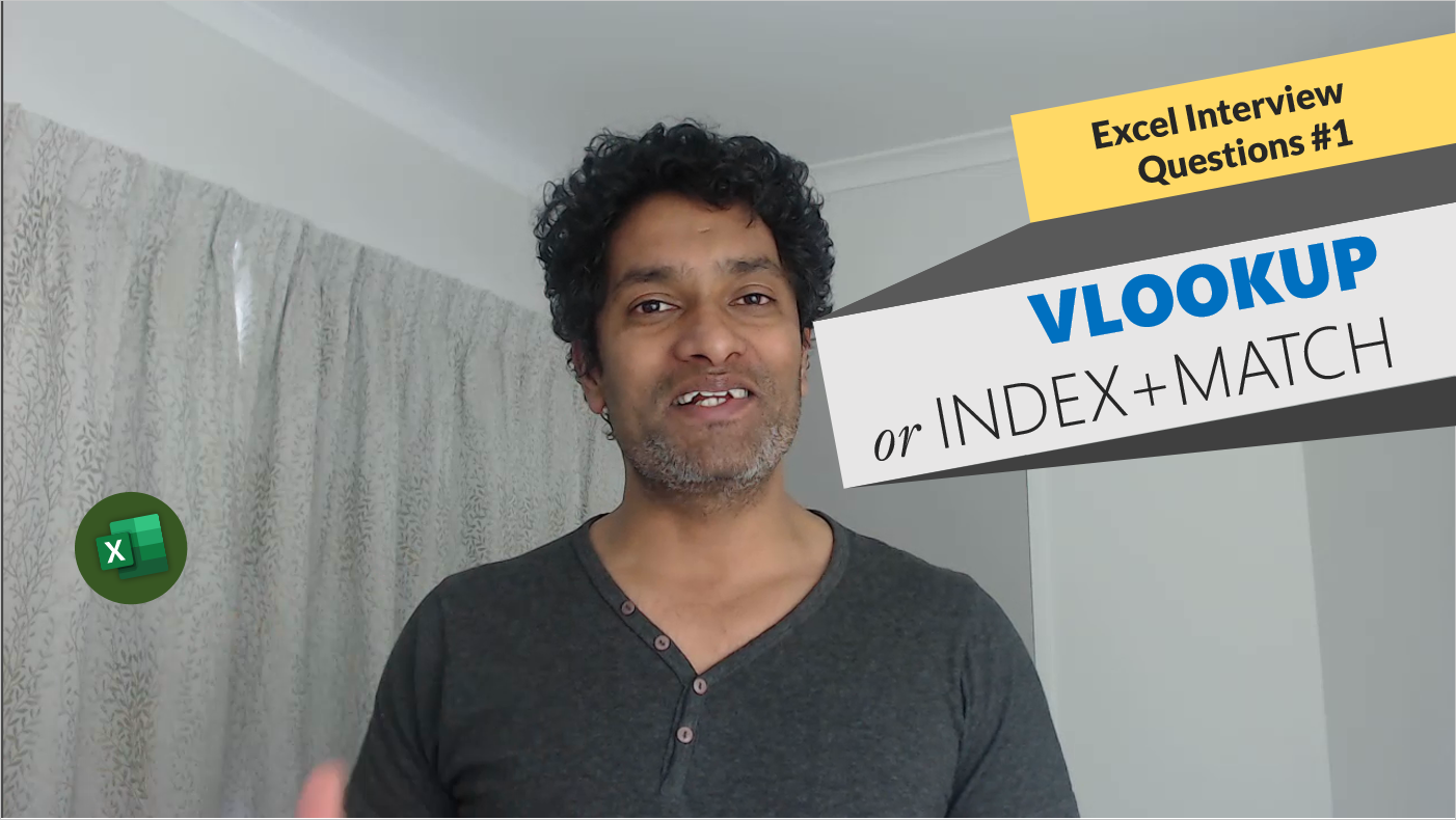 VLOOKUP or INDEX+MATCH? – Excel Interview Question – 01