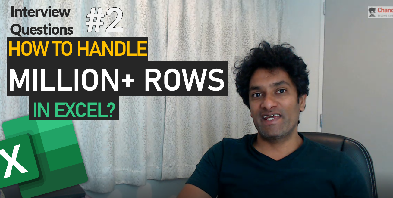 How can you analyze 1mn+ rows data – Excel Interview Question – 02