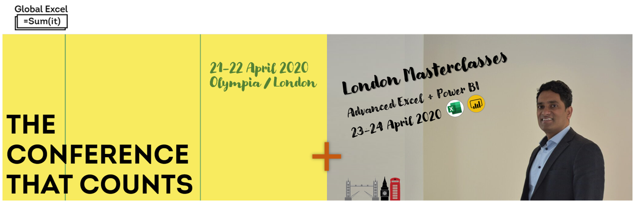 London 2020 Events - Global Summit & Public Masterclasses by Chandoo