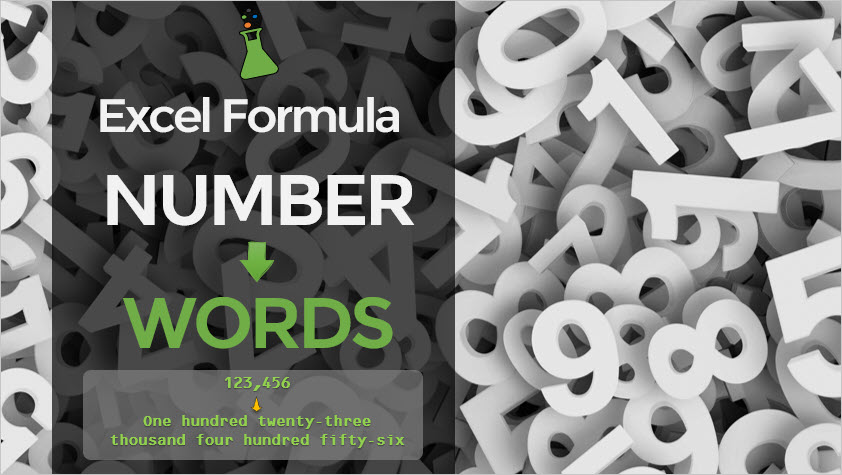 Excel Number to Words Formula