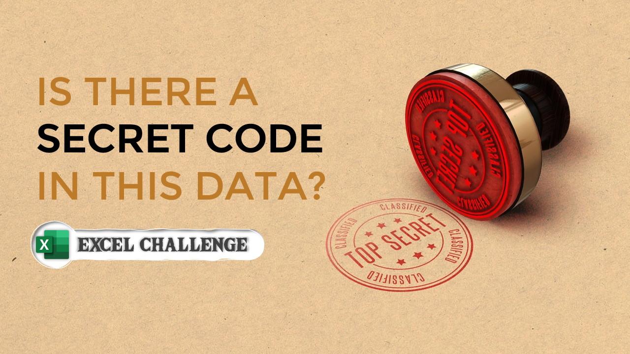 Secret code - Excel challenge