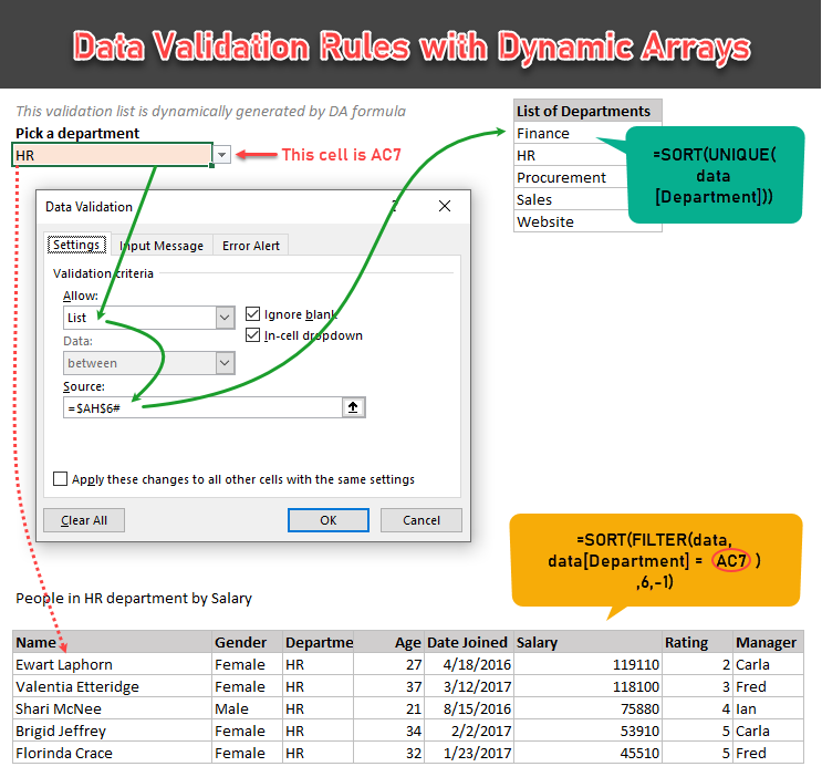 data validation rules with dynamic arrays