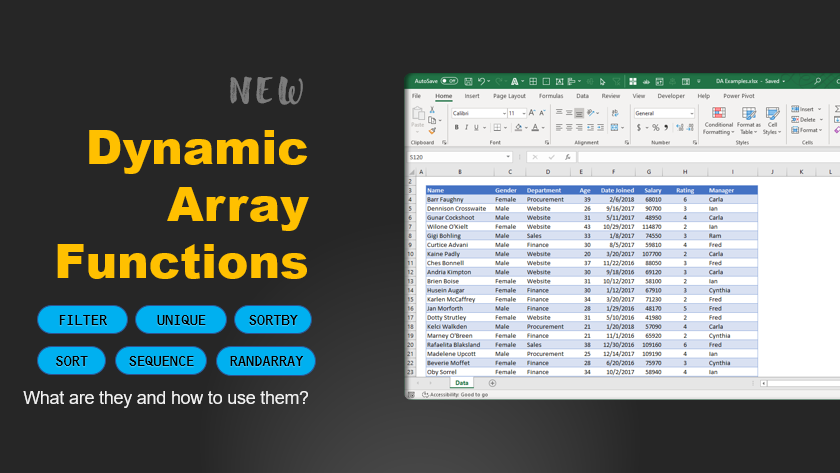Excel Dynamic Array Functions – What are they, how to use them, Examples and FAQs