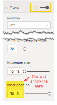 Use inner padding 50% to make the variance bars thinner
